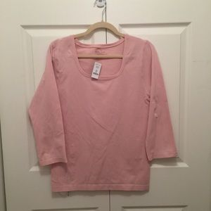 White House Black Market tee size XL NWT Pink